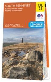 Wandelkaart  South Pennines | OL 21 Explorer Maps | Ordnance Survey | 1:25.000 | ISBN 9780319242605