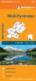 Wegenkaart Midi Pyrenees 2020 | Michelin 17525 | ISBN 9782067243880