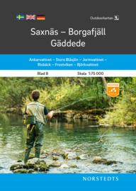 Wandelkaart Saxnäs - Borgafjäll - Gäddede - outdoor fjall 08 | Norsteds | 1:75.000 | ISBN 9789113105055