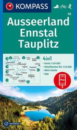 Wandelkaart Ausseerland, Ennstal   Kompass 68   1:50.000   ISBN 9783990446614