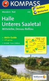 Wandelkaart Halle-Unteres Saaletal-Mittelelbe | Kompass 458 | ISBN 9783850263467