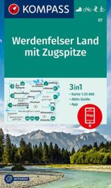 Wandelkaart Werdenfelser Land mit Zugspitze | Kompass 07 | 1:35.000 | ISBN 9783990448397