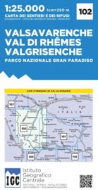 Wandelkaart Valsavarenche - Val di Rhemes - Valgrisenche | IGC nr. 102 | 1:25.000 - ISBN 9788896455616