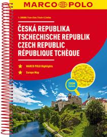 Wegenatlas Tsjechië - Česká Republika | Marco Polo - Mair | 1:200.000 | ISBN 9783829736909