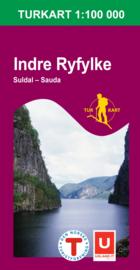 Wandelkaart Indre Ryfylke 2790 | Nordeca | 1:100.000 | ISBN 7046660027905