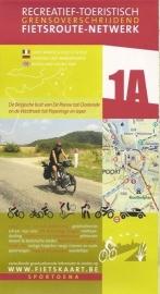 Sportoena fietskaart 01A Belgische kust Fietsroute Netwerk  | 9789078976189