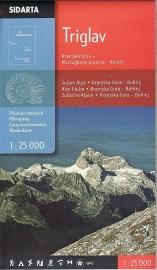 Wandelkaart Julische Alpen - Triglav | Sidarta | 1:25.000 | ISBN 3830008646330