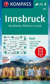 Wandelkaart Innsbruck & omgeving | Kompass 036 | 1:35.000 | ISBN 9783990448618