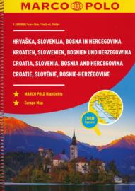 Wegenatlas Slowenië, Kroatië, Bosnië & Hercegovina | Marco Polo | 1:300.000 | ISBN 9783829736886