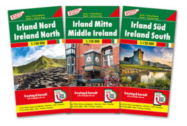 Fietskaart / wegenkaart Ierland | Freytag & Berndt 3-delige set | 1:150.000 | ISBN 9783707918007