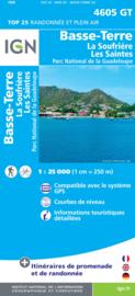 Wandelkaart Basse - Terre  - La Soufriere - Guadeloupe | IGN 4605T | 1:25.000