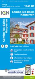 Wandelkaart Cambo-les-Bains, Hasparren, Helette, Iholdy   Franse Atlantische Kust   IGN 1345OT - IGN 1345 OT   ISBN 9782758551485