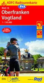 Fietskaart Oberfranken -Vogtland | ADFC nr. 18 | ISBN 9783969900635
