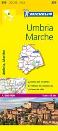 Wegenkaart - Fietskaart  Michelin Umbria e Marche 359 | 1:200.000 | ISBN 9782067127210