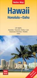 Wegenkaart Oahu - Honolulu | Hawaii | Nelles maps | ISBN 9783865745354