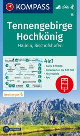 Wandelkaart Tennengebirge -Hochkönig | Kompass 15 | 1:50.000 | ISBN 9783990449387