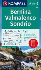 Wandelkaart Bernina - Sondrio | Kompass 93 | 1:50.000 | ISBN  9783991211099