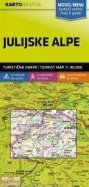 Wandelkaart Julische Alpen  -Slovenië | KartoGrafija | 1:40.000 | ISBN 3830048522496