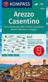 Wandelkaart Arezzo, Casentino, PN delle Foreste Casentinesi | Kompass 2459 | 1:50.000 | ISBN 9783990447406