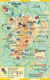 Wandelgids Morvan -  Le Parc naturel régional du Morvan... à pied   FFRP   ISBN 9782751410055