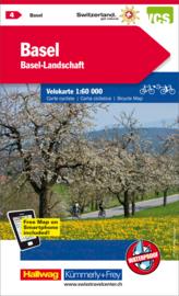 Fietskaart Basel / Aarau   Kümmerly+Frey nr. 04   1:60.000   ISBN 9783259024041
