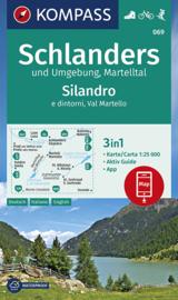 Wandelkaart Schlanders un Umgebung/Silandro e dintorni | Kompass 069 | 1:25.000 | ISBN 9783990446232
