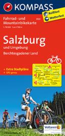 Fietskaart  Salzburg U. Umgebung - Berchtesgadener Land | Kompass 3122 | 1:70.000 | ISBN 9783850263344