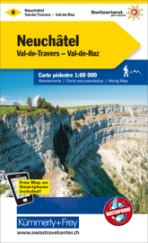 Wandelkaart Neuchatel - Val de Travers | Kümmerly + Frey 8 | 1:60.000 | ISBN 9783259022153