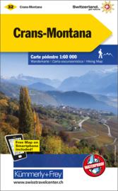 Wandelkaart Crans-Montana | Kümmerly + Frey 32 | 1:60.000 | ISBN 9783259022320