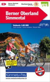 Fietskaart Berner Oberland  | Kümmerley & Frey nr. 16 | 1: 60.000 | ISBN 9783259024164