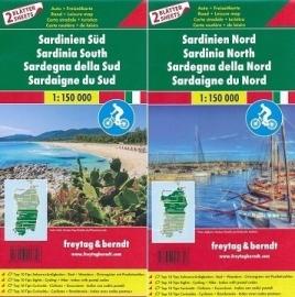 Fietskaart - wegenkaart Sardinië Noord + Zuid | Freytag & Berndt | 1:150.000 | ISBN 9783707916706