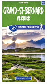 Wandelkaart Grand-St-Bernard - Verbier | Kümmerly & Frey 48 | 1:40.000 | ISBN 9783259023488