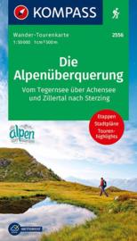 Wandelkaart Die Alpenüberquerung | Kompass 2556 | 1:50.000 | ISBN 9783990448656