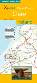 Fietskaart - Wegenkaart Clare (Ierland) | Xploreit | 1:100.000 |  ISBN 9780955265549