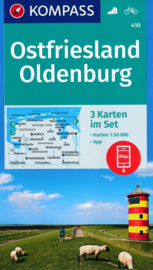 Wandelkaart Noord Duitsland | Kompass 410 Ost Friesland, Oldenburg | 1:50.000 | ISBN 9783990444313