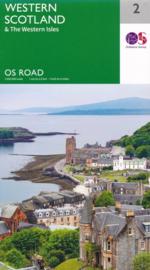 Wegenkaart Western Scotland & Wester Isles | Ordnance Survey Roadmap 2 | 1:250.000 | ISBN 9780319263747