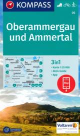 Wandelkaart Oberammergau / Ammertal | Kompass 05 | 1:25.000 | ISBN 9783990442708