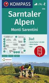 Wandelkaart Sarntaler Alpen |  Kompass 056 | 1:25.000 | ISBN 9783990447253