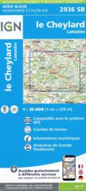 Topo-, Wandelkaart Le Cheylard / Lamastre | Ardeche | IGN 2936SB | ISBN 9782758539100
