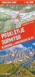 Wandelkaart Prokletije - Durmitor | TerraQuest  | 1:65.000 | ISBN 9788361155430