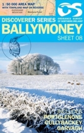 Wandelkaart Ballymoney | Discovery Northern Ireland 08 - Ordnance survey | 1:50.000 | ISBN 9781905306831