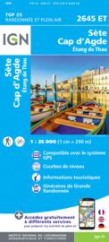 wandelkaart Sete - Cap d'Agde - Etang de Thau, Languedoc | IGN 2645ET - IGN 2645 ET  | ISBN 9782758543091 |