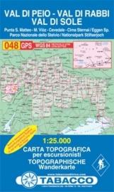 Wandelkaart Val di Peio - Val di Rabbi | Tabacco 48 | 1:25.000 | ISBN 9788883150692