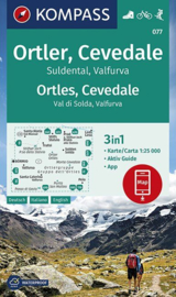 Wandelkaart Ortler, Cevedale | Kompass 077 | 1:25.000 | ISBN 9783990447017