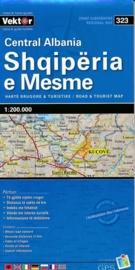 Wegenkaart Albanië Centraal - Central Albania | Vektor Editions | 1:200.000 | ISBN 9789604487769