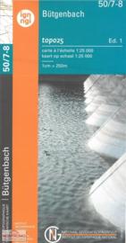 Topografische kaart Belgie NGI 50 / 7-8 Bütgenbach - Büllingen - Rocherath | 1:25.000 - ISBN 9789462352339
