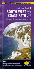 Wandelkaart  The South West coast path 3  Plymouth to Pool Harbor | Harvey | 1:40.000 | ISBN 9781851375561