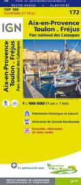 Wegenkaart - fietskaart  Toulon - Aix-en- Provence | IGN 172 | ISBN 9782758540885