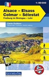 Wandelkaart Elsass - Colmar - Sélestat  | Kümmerly & Frey 05 | 1:50.000 | ISBN 9783259007297