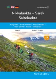 Wandelkaart Nikkaluokta - Sarek - Saltoluokta outdoor fjall 02 | Norsteds | 1:75.000 | ISBN 9789113104997
